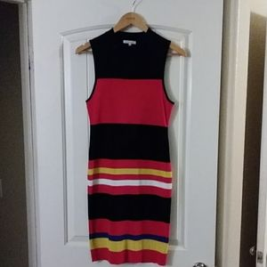 Mixed Color Sweater dress